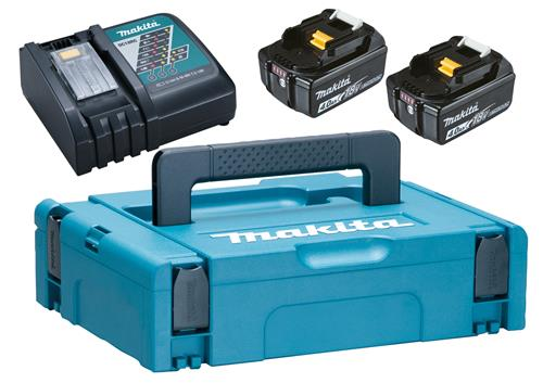 Produktbilde for Makita PowerPack dobbeltlader, 2stk 18V/4,0Ah, koffert