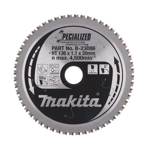 Produktbilde for Makita Sagblad HM 136x20x1,5  56T