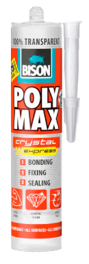 Produktbilde for Bison Polymax Chrystal Express 300ml transparent