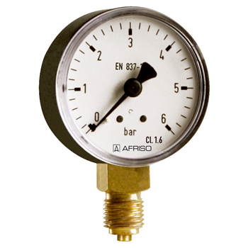 Produktbilde for Standard manometer/vacuumeter Type D1 uttak ned