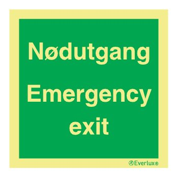 Produktbilde for Skilt Nødutgang, Emergency Exit
