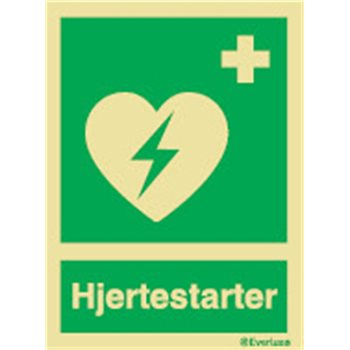 Produktbilde for Hjertestarter + symbol