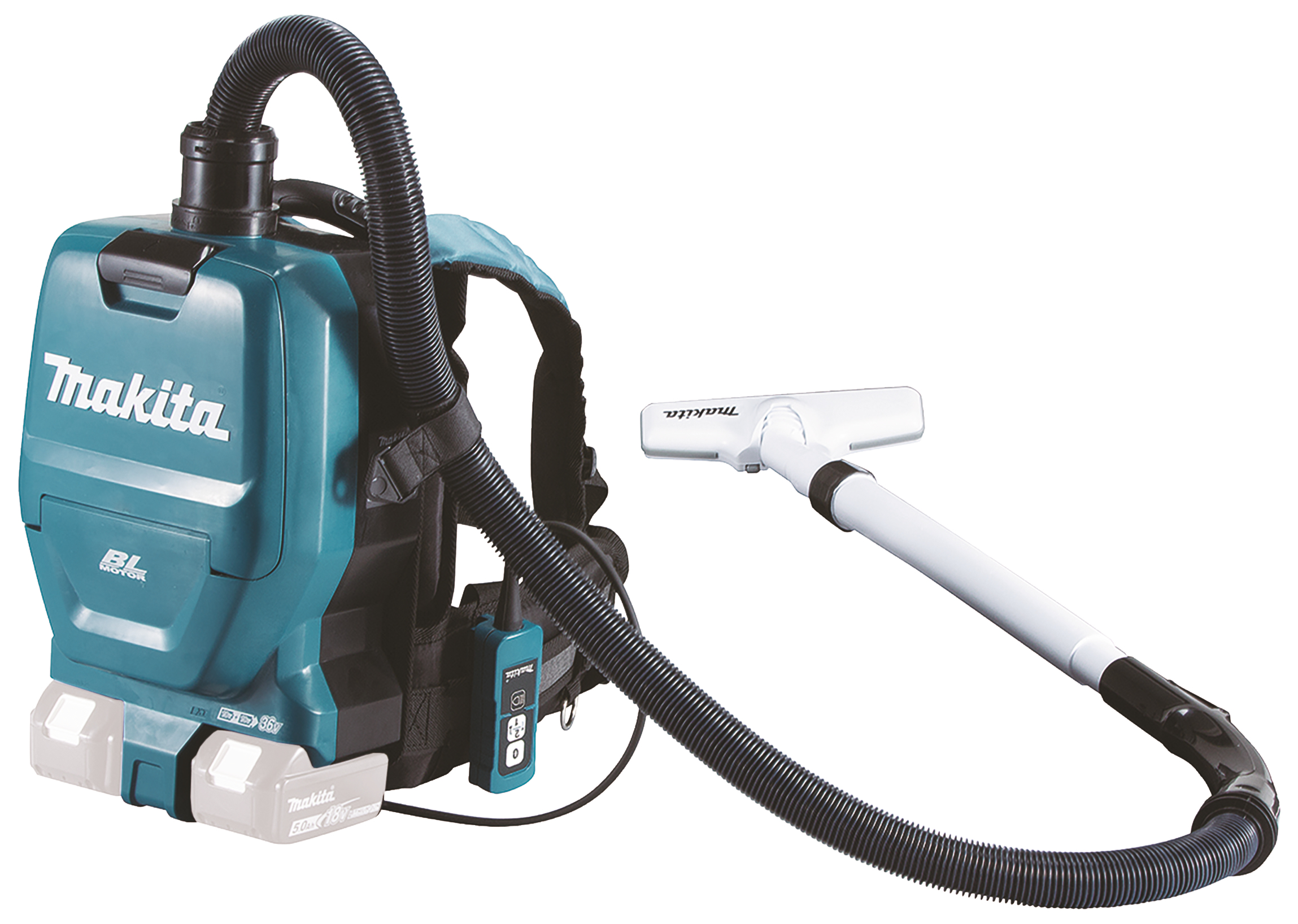 Produktbilde for Makita støvsuger back pack  18V+18V u/ batteri og lader